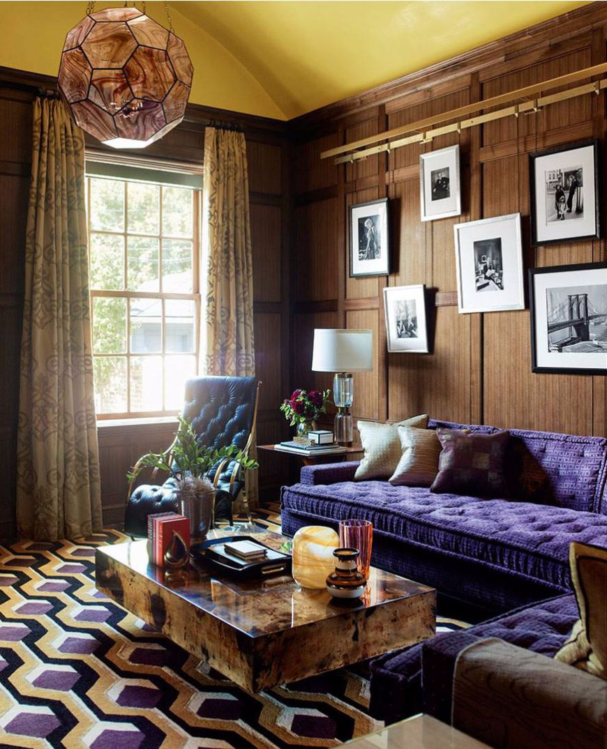 astonishing blue yellow living room | 7 Astonishing Living Room Ideas By Steven Gambrel | Coffee ...