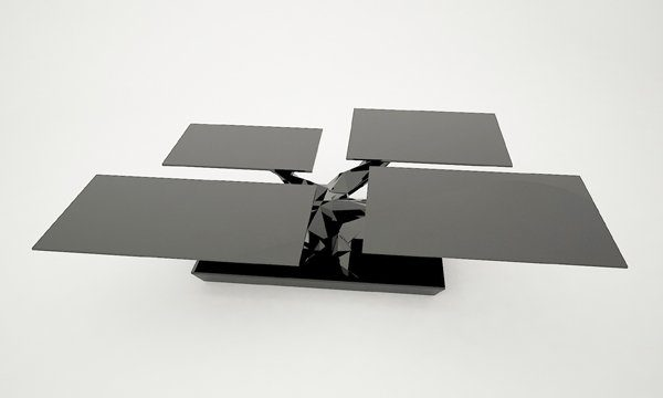Coffee Table Design Unique Bonsai Coffee Table Design BONSAI coffee table black modern design 600x360