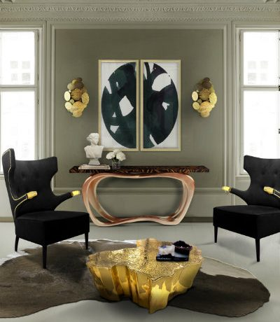 Egyptian coffee table inspirations for the living room Inspiration Eden polished brass feat 400x460