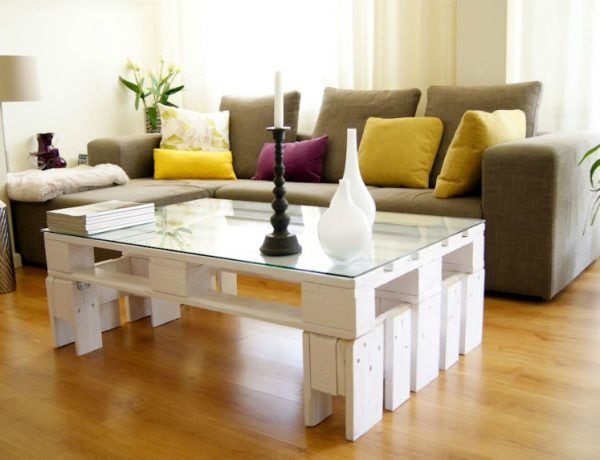 Home Decorating Ideas With Vintage Coffee and Side Tables europalet blanco mesa 600x460