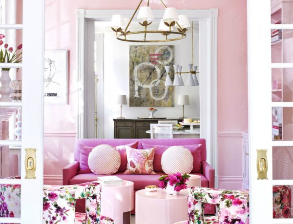 10 Colorful Coffee and Side Tables for Luxury Living Rooms gallery pink parlor 1 600x460