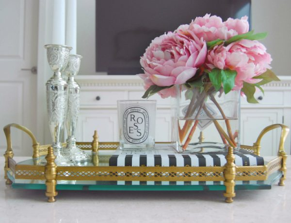 Decorating Ideas for a Chic Coffee Table vanity tray1 600x460