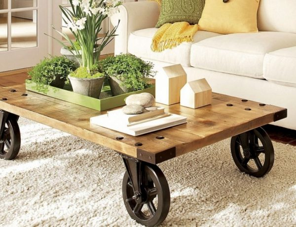 coffee and side table 12 Modern Coffee and Side Tables With Wheels white coffee table on wheels coffee table coffee table with wheels for sale in minimalist 600x460