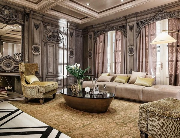Luxury Coffee Tables From Neoclassical Inspired Interiors | www.bocadolobo.com #neoclassical #coffeetable #livingroom #interiordesign #sittingroom luxury coffee tables Luxury Coffee Tables From Neoclassical Inspired Interiors roskoshnye interery v neoklassicheskom stile 11 600x460