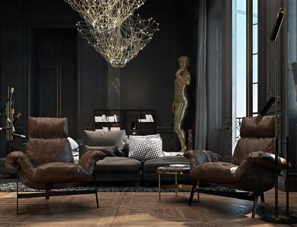 living room design Improve Your Living Room Design With Dark Tone Furniture Sophisticated Paris Apartment by Irina Dzhemesyuk Vitaly Yurov 08 600x460