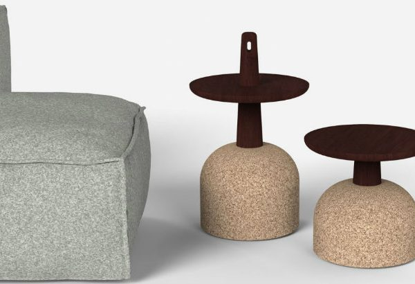 side tables Cork-base side tables by Alain Gilles featured 10 600x410
