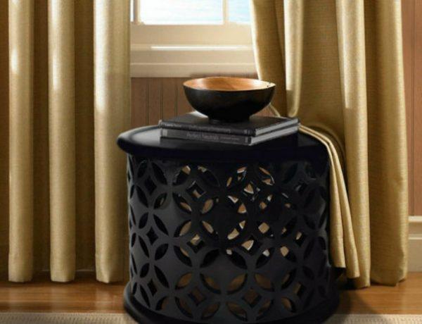 Black Side Table Thrilling Black Side Tables For A Modern Living Room 1 5 600x460