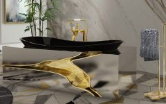 unique side tables Unique Side Tables For Luxury Bathrooms console2 240x150