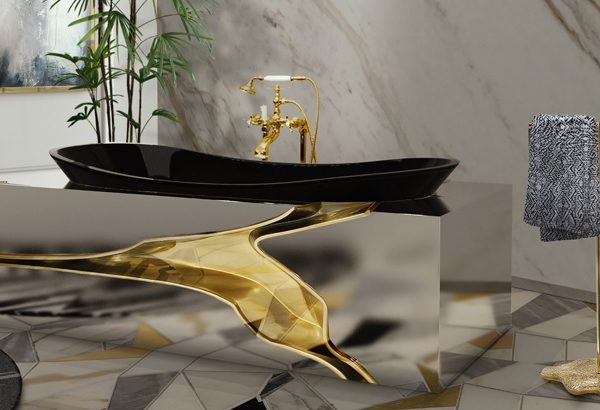 unique side tables Unique Side Tables For Luxury Bathrooms console2 600x410