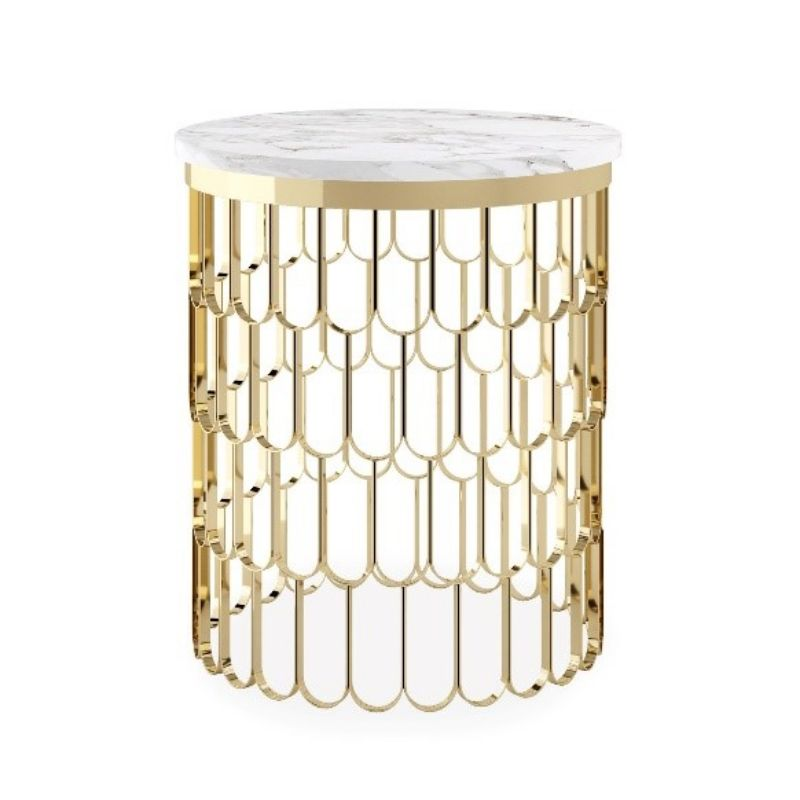 white side tables Modern and Unique White Side Tables by Luxury Brands 5 1