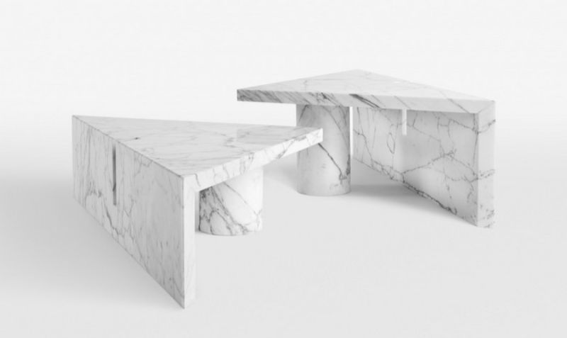 white side tables Modern and Unique White Side Tables by Luxury Brands 8 2