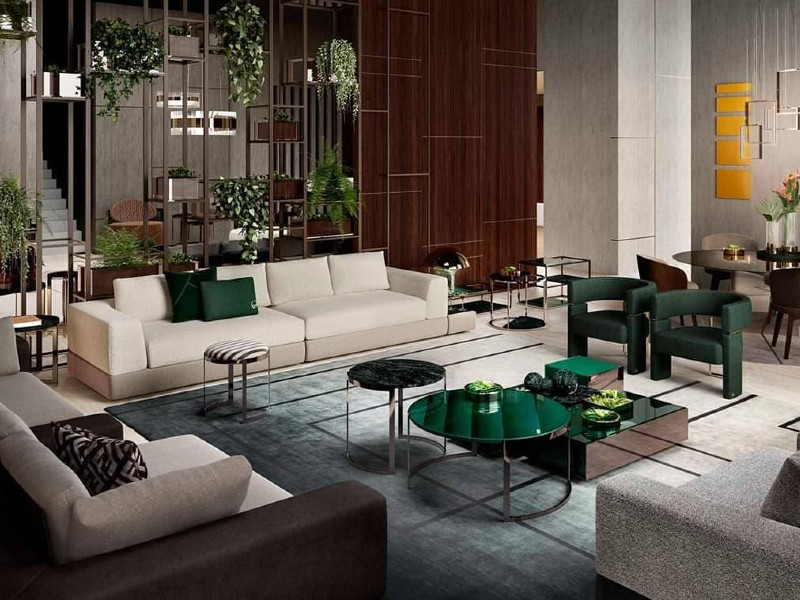 10 Living Room Design Ideas By Luxury Furniture Brands