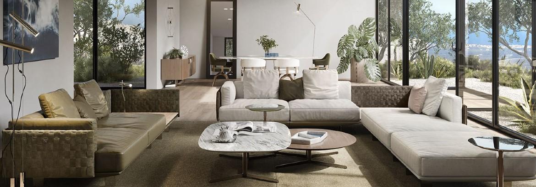 living room design 10 Living Room Design Ideas By Luxury Furniture Brands capa 1